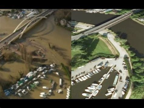Thames River Before And After   river thames flooding before and after aerials youtube