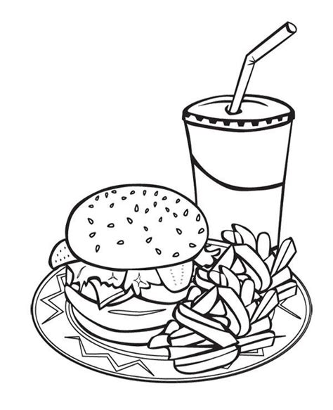 junk food coloring pages coloring home