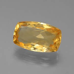 Citrine 3 6ct gold citrine 3 6ct cushion from brazil and
