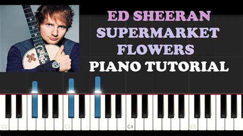 tutorial piano ed sheeran ed sheeran supermarket flowers piano tutorial youtube