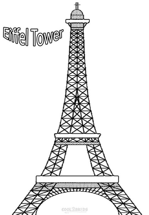 Coloring Pages Printable Eiffel Tower Coloring Pages For Towers Coloring Page