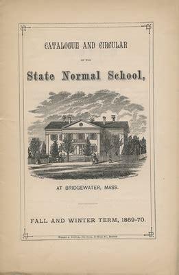 Bridgewater State Academic Calendar Bridgewater State Normal School Catalogs And Circulars