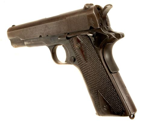 deactivated wwi us colt m1911 pistol with original