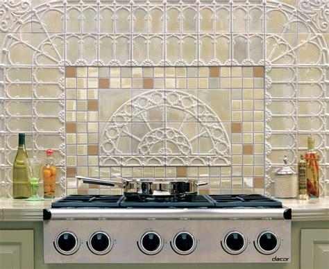 iridescent backsplash traditional kitchen dallas