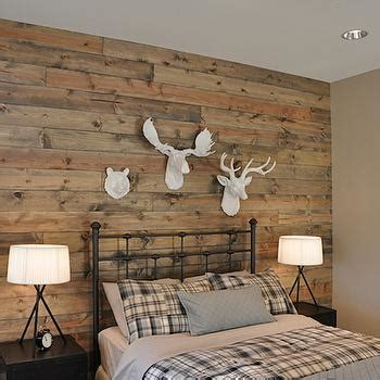 Gray Pintuck Duvet Wood Plank Headboard Cottage Bedroom The Cross Decor