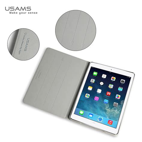 Usams Victor 360 Leather Stand Flip Cover Air 2 usams apple new air 360 degree rotatable luxury