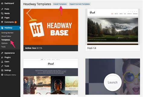 headway themes article builder using headway templates headway themes