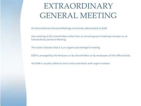 extraordinary general meeting minutes template images