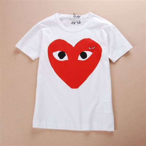 Tshirt Baju Kaos Play Cdg brand discussion live free die strong comme des garcons