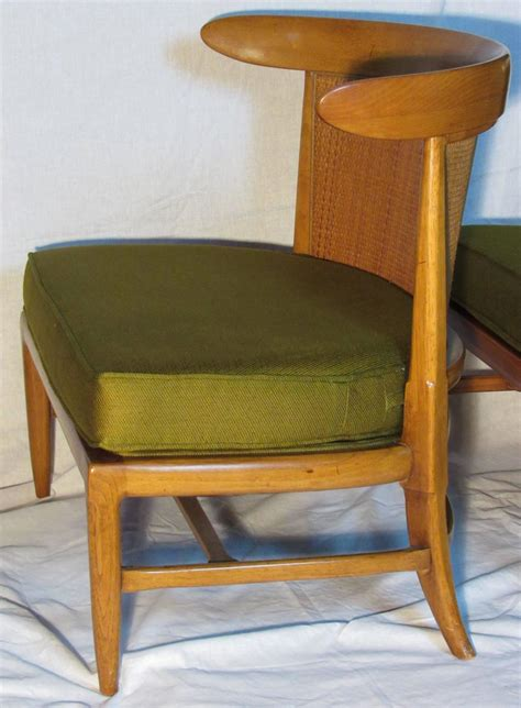 four mid century tomlinson sophisticate caned walnut