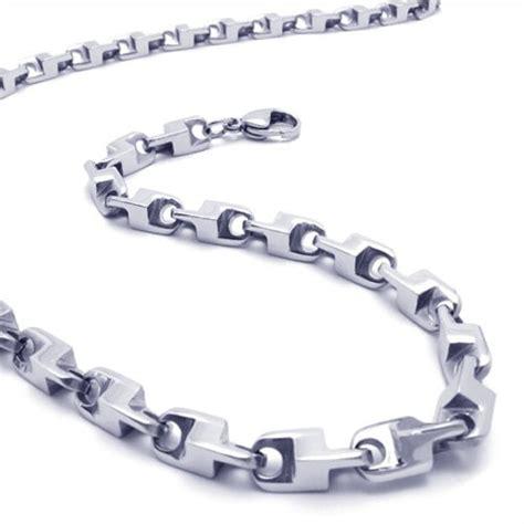 T01 217 Titanium Necklaces 21 7 inch titanium silver necklace 17351 163 116 titanium jewellery uk