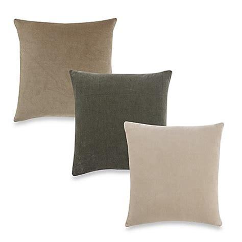 bed bath and beyond valencia aura valencia plushy cotton velvet 20 inch square throw