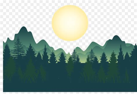 forest wallpaper night deep forest mountains vector png