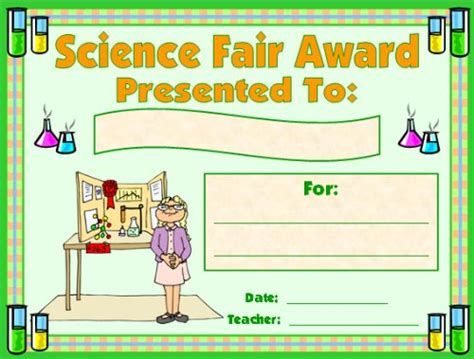 science award certificates