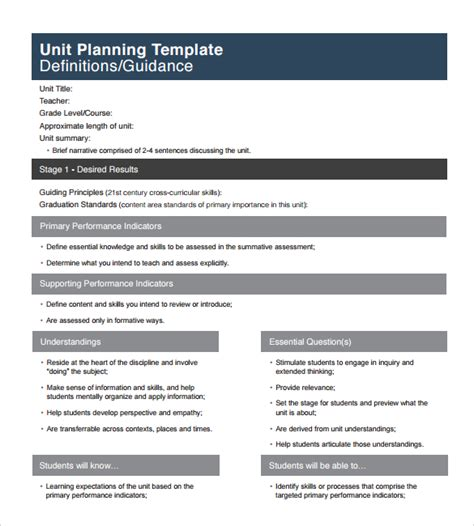 firm templates unit plan template 11 documents in pdf word