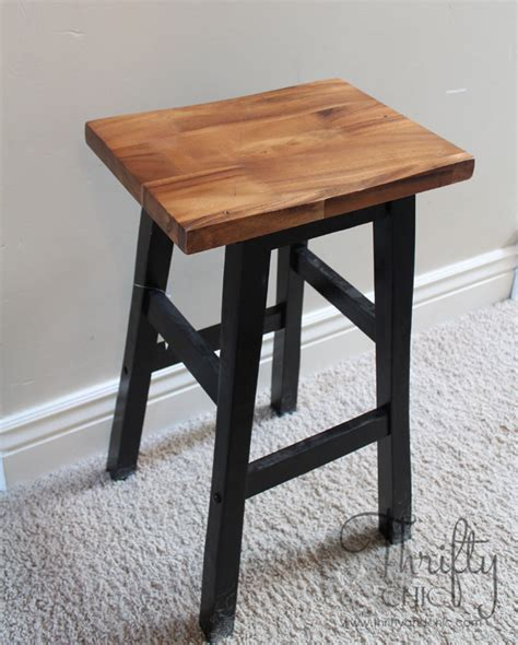 Stool Nightstand thrifty and chic diy projects and home decor