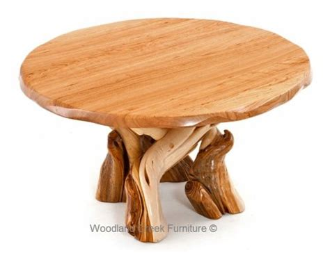 round table woodland ca rustic juniper log dining table by woodland creek