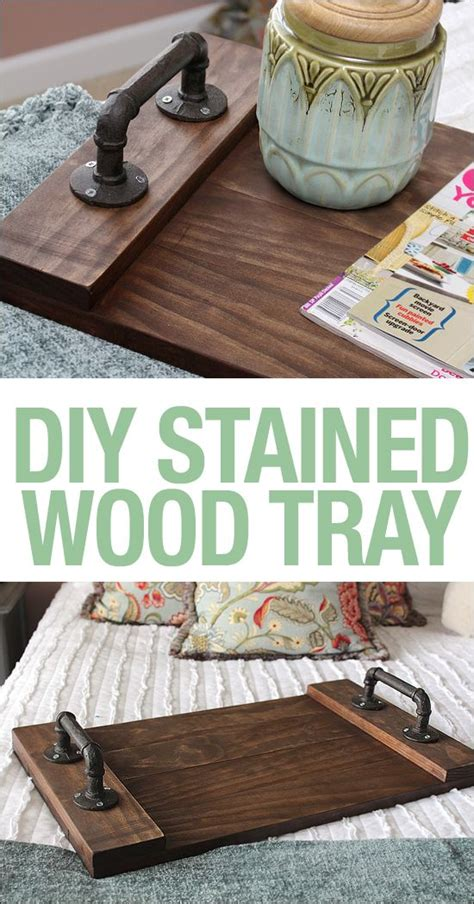 diy stained wood tray diy wood stain diy woodworking