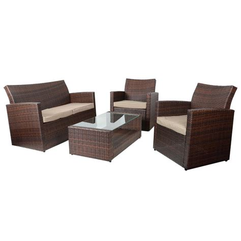 sofa and coffee table set brown tuscany rattan wicker sofa garden set with coffee table
