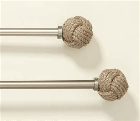 rope curtain rod nautical rope curtain rods and ropes on pinterest