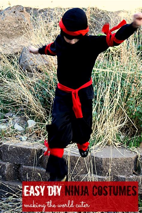 pattern for ninja costume 25 creative diy costumes for boys