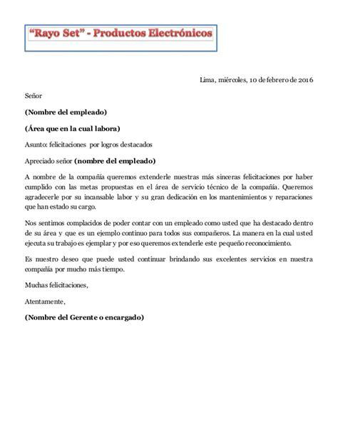 carta felicitacion carta de felicitaci 243 n