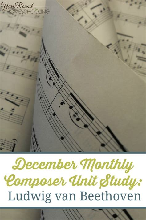 beethoven biography in brief december monthly composer unit study beethoven briefs