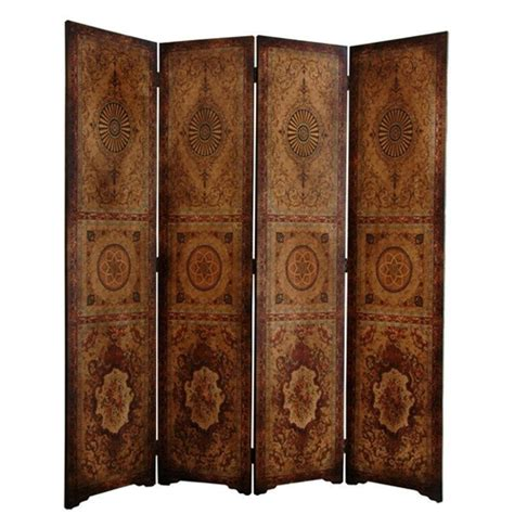 6 Ft Tall Olde Worlde Parlor Room Divider Decorative Screen Decorative Room Divider