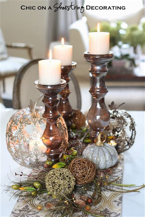 Pier W Gift Card - chic on a shoestring decorating fall centerpiece and pier 1 gift card giveaway