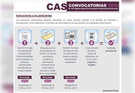 convocatorias cas minedu minedu convocatoria cas enero 2015 puestos de trabajo en