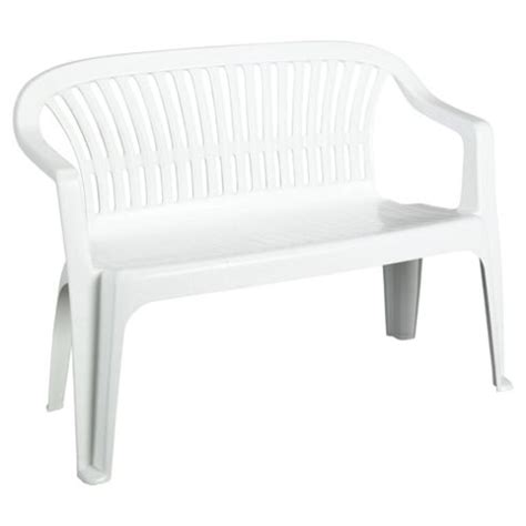 buy plastic garden bench white from our garden benches