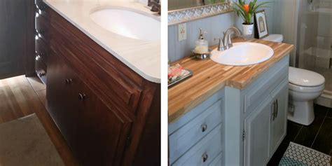 how to magically change your bathroom vanity