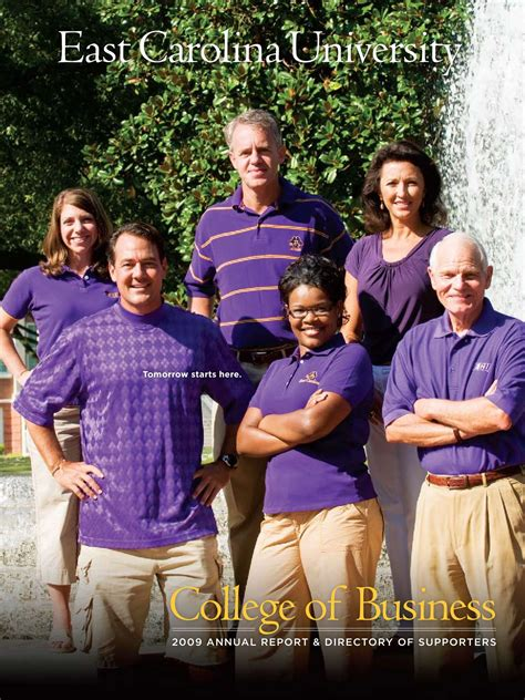 East Carolina Mba Review by 2009 College Of Business Annual Report By East Carolina