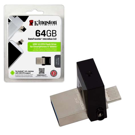 Otg 64gb kingston microduo usb 3 0 usb otg flash drive 64gb 7dayshop