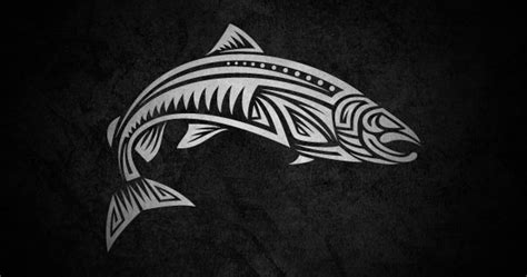 tribal trout tattoo frgraphix calakka tribal illustrations