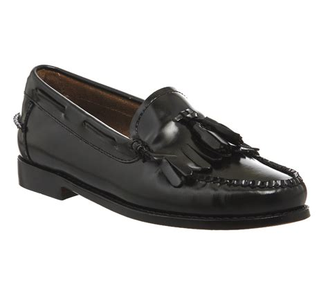 Maharani Loafer Flats Dir Co g h bass co kiltie moc loafers black leather flats
