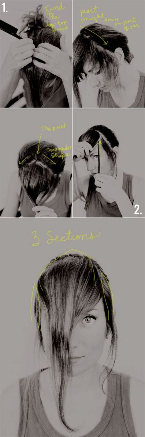 how to cut your own thick bangs a tutorial and then we