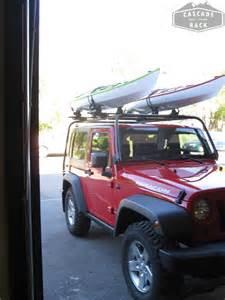 Jeep Wrangler Canoe Carrier Cascade Rack Kayak Rack Installation 2013 Jeep Wrangler