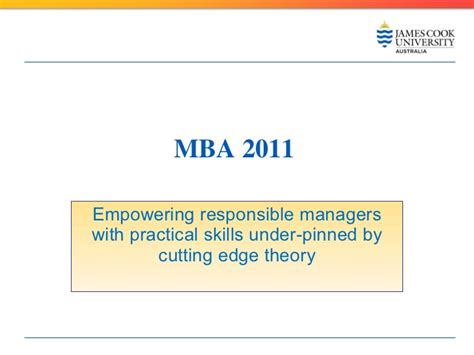 How To Get Your Mba Ecu by Master Business Administration Cook 2011