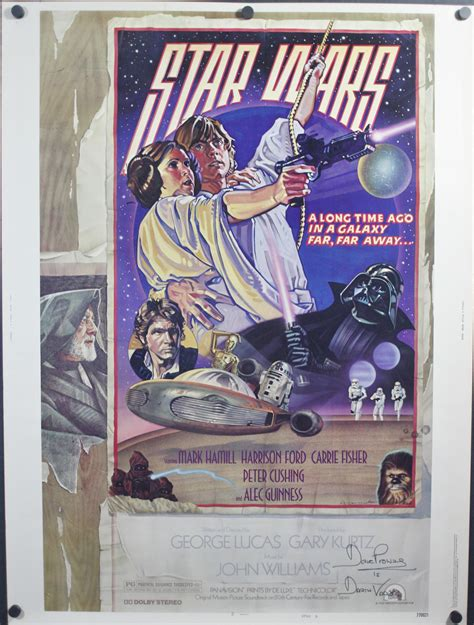 hairstyle posters for sale star wars original autographed style d 30 215 40 movie