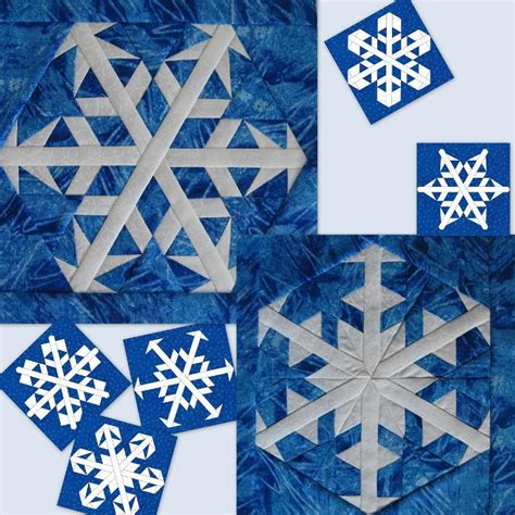 Snowflake Quilting Design by Free Quilt Pattern Snowflakes 5 6