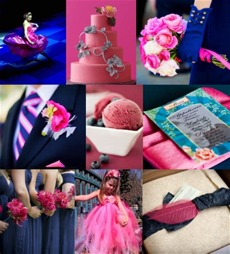 what goes with pink what color pallette goes best with fuschia weddingbee