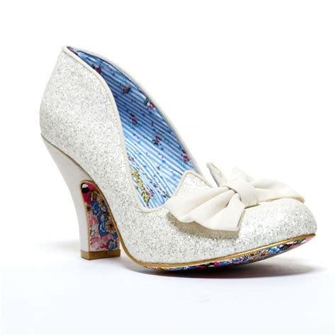 nick shoes irregular choice nick of time glitter court shoe