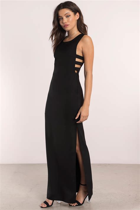 Dres Black trendy black maxi dress black dress cut out dress