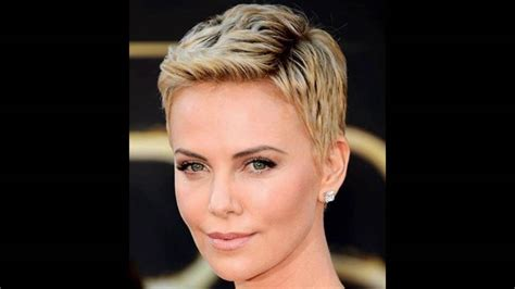 how to give myself the best hairstyle with a widows peak for men how to give yourself a spiky pixie cut charlize therons