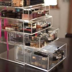 6 tier custom cheap acrylic makeup organizer with drawers