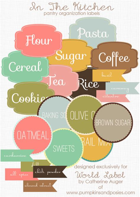 make your own labels templates free free printable pantry organization labels dollar store