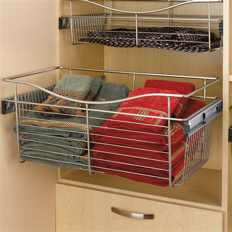 Shelf Pull Out Basket by Rev A Shelf Pullout Wire Basket 24 Quot W X 14 Quot D X 18 Quot H Cb