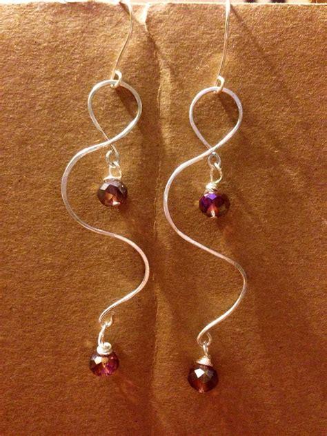 vb  earrings twisted wire images  pinterest beaded earrings ear studs  pearl