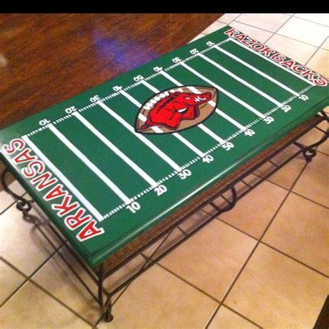 Football Coffee Table Arkansas Razorback Football Field Coffee Table Painted Furniture Football